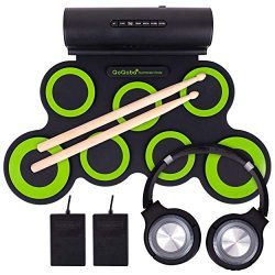QoQoba Electronic Drum Set for Kids | Adult Beginner Pro MIDI Drum Kit Practice Pad Incl. Foldab ...