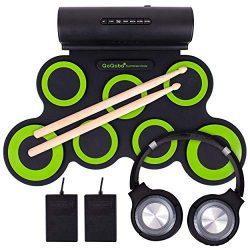 QoQoba Electronic Drum Set for Kids | Adult Beginner Pro MIDI Drum Kit Practice Pad Incl. Foldab ...