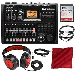 Zoom R8 Multi-Track Digital Recorder/Interface/Controller/Sampler with 16GB SD Card, Samson Head ...