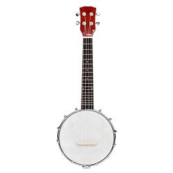 Lykos Top Grade Exquisite Professional Wood Metal 4/5/6-string Banjo White & Wood Color (4-S ...