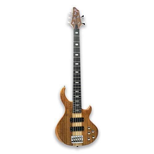 5 String Electric Bass Guitar Millettia Laurentii+Okoume body maple neck
