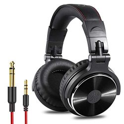 OneOdio Adapter-Free Closed Back Over Ear DJ Stereo Monitor Headphones, Professional Studio Moni ...