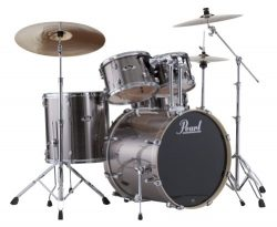 Pearl EXX725S/C 5-Piece Export New Fusion Drum Set with Hardware – Smokey Chrome