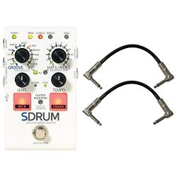 Digitech SDRUM Strummable Drums Automatic Drummer Pedal Bundle w/Cables