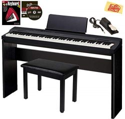 Casio Privia PX-160 Digital Piano – Black Bundle with CS-67 Stand, Deluxe Sustain Pedal, F ...