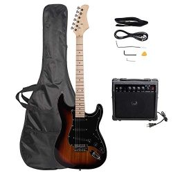 LAGRIMA 39″ Full Size Beginner Electric Guitar Starter Kit with Amplifier, Power Cord, Gui ...