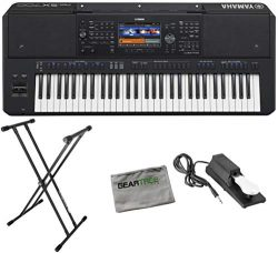 Yamaha PSR-SX700 Digital Arranger Workstation w/Cloth, Stand, and Pedal