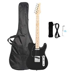 Glarry GTL Maple Fingerboard Electric Guitar Bag Strap Plectrum Connecting Wire Spanner Tool Tra ...