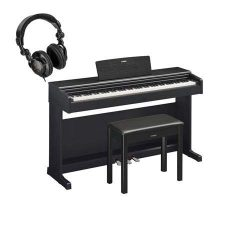 Yamaha Arius YDP-144 88-Key Traditional Console Digital Piano with Bench & PA150 AC Power Ad ...