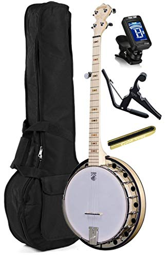 Deering Goodtime 2 5-String Resonator Banjo with Padded Bag, Capo, Mute and Tuner
