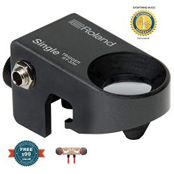 Roland RT-30H Single Acoustic Drum Trigger includes Free Wireless Earbuds – Stereo Bluetoo ...