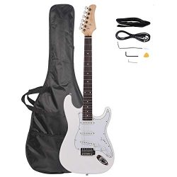 Z ZTDM Full Size 39″ Rosewood Fingerboard Electric Guitar with Gigbag Strap Amp Wire Tremo ...