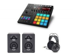 Native Insturments Maschine MK3 Performer Package with Headphones and Studio Monitors