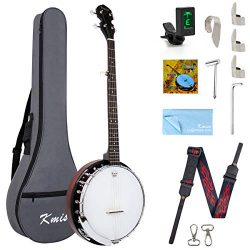 Kmise 5 String Banjo Remo Head Closed Sapele Back With Bag Tuner Strap Strings Pickup Picks Rule ...