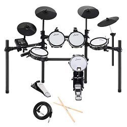 Donner DED-200 Electric Drum Set Kit Electronic with 5 Drums 4 Cymble, Electric Drum, Audio Line ...