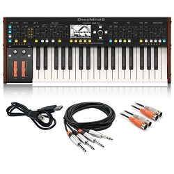 Behringer DeepMind 6 True Analog 6-Voice Polyphonic Keyboard Synthesizer bundle with Cable Kit