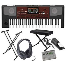 Korg PA700 Professional Arranger Series Keyboard w/Sustain Pedal, Stand, Headph