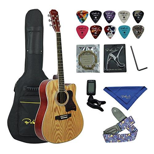 Bailando 41 Inch Full Size Dreadnought Cutaway Mahogany Acoustic Guitar, Top Mahogany Back and Sides