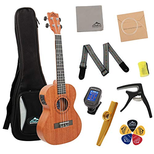 EastRock Tenor Ukulele EQ 26 Inch Professional Mahogany Ukulele Instrument Set for Kids Beginner ...