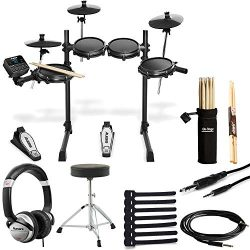 Alesis Turbo Mesh Kit Seven-Piece Electronic Drum Kit with Mesh Heads + Drum Throne + Drumsticks ...