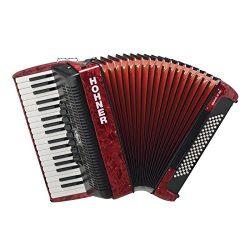 ACORDEON CROMATICO – Hohner (A16431) (Bravo III) (80 Bajos) (Rojo con Funda de Calidad)