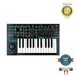 Roland SYSTEM-1 25-Key Plug-Out Synthesizer includes Free Wireless Earbuds – Stereo Blueto ...