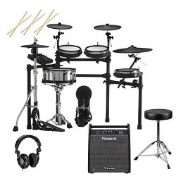 Roland TD-27KV Drum Set Includes, PD-140DS V-Pad Digital Snare, PDX-100 V-Pad 10″ –  ...