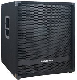 Sound Town METIS Series 1800 Watts 15″ Powered Subwoofer with Class-D Amplifier, 4-inch Vo ...